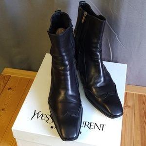 Yves Saint Laurent Shoes - YSL Men's Jonny Boots Espresso - Coming Soon